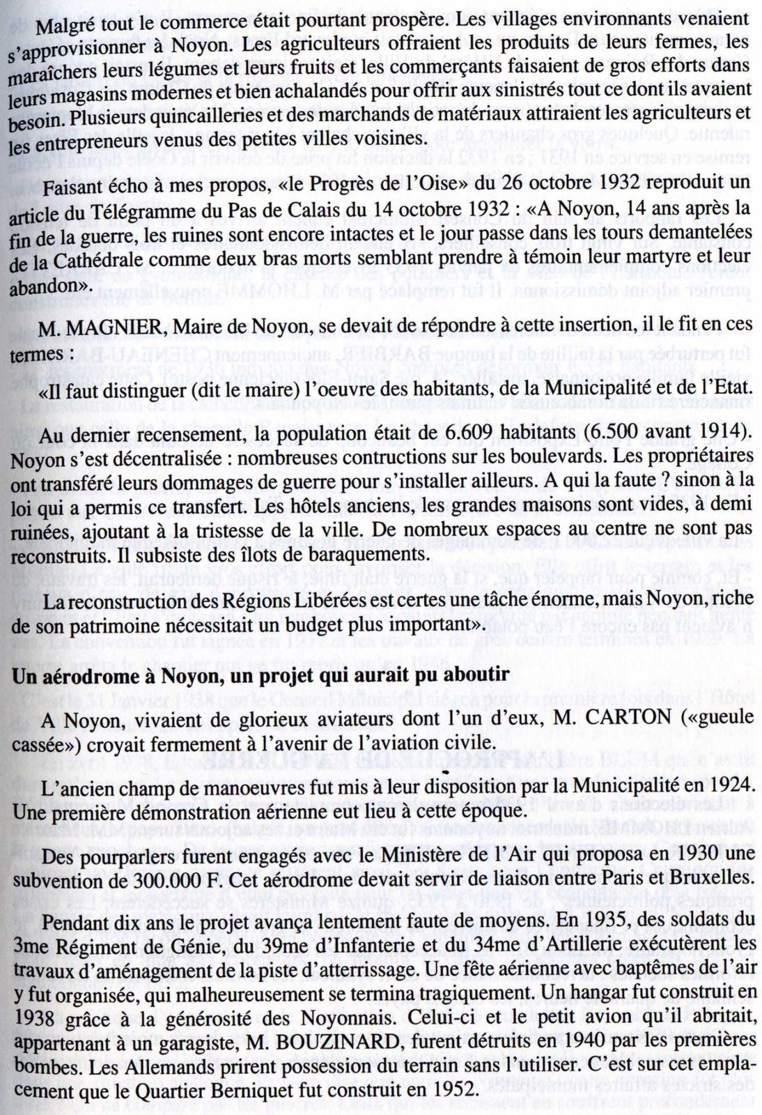 Album - la ville de Noyon (Oise), son Histoire de 1900 à 1950 (chapitres 3 et 4)