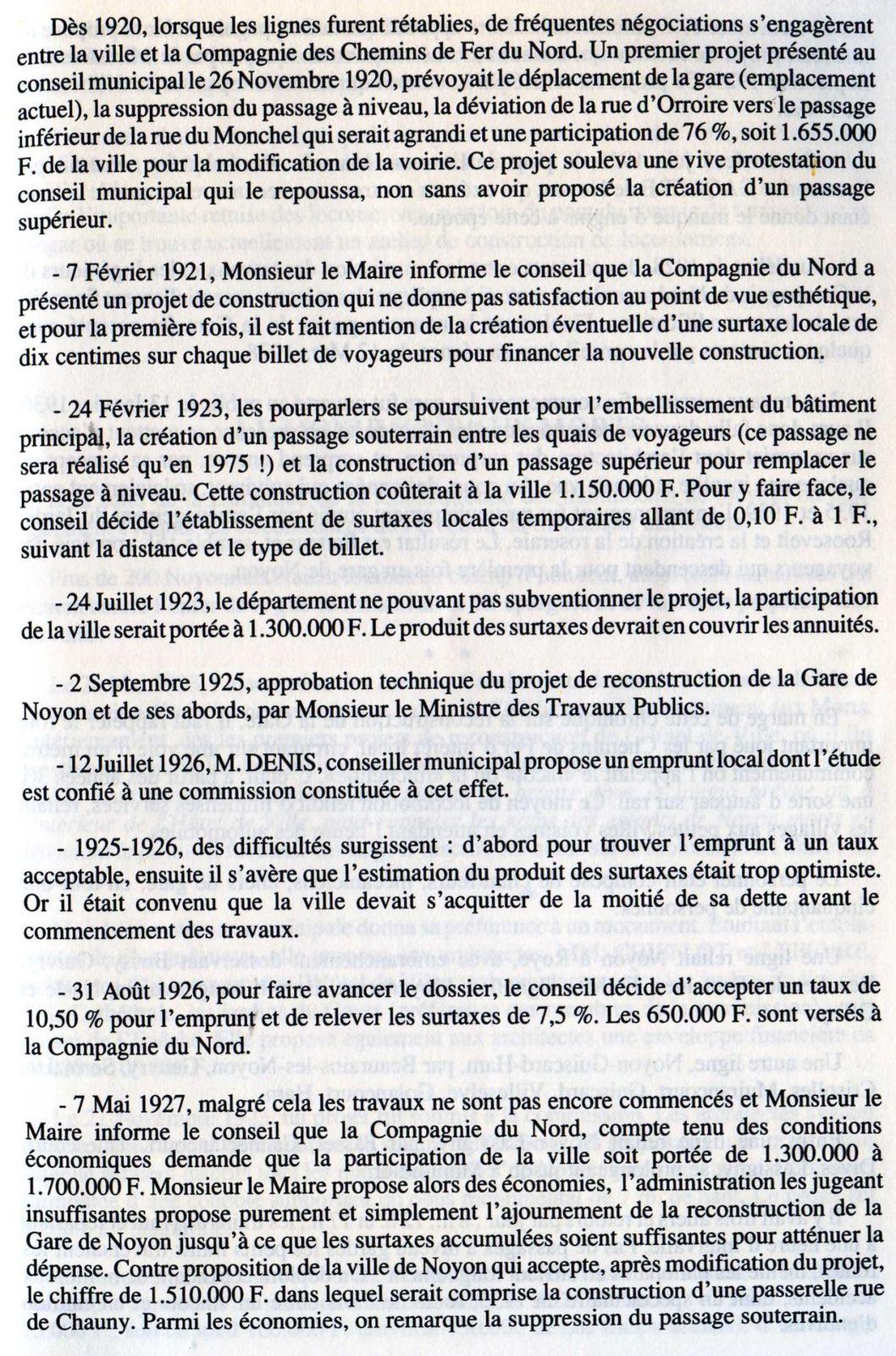 Album - la ville de Noyon (Oise), son Histoire de 1900 à1950 (chapitres 8 9 et 10)
