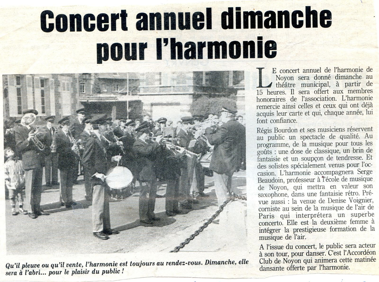 Album - la ville de Noyon (Oise), l'orchestre d'harmonie aux différentes manifestations de 1991 à 1996