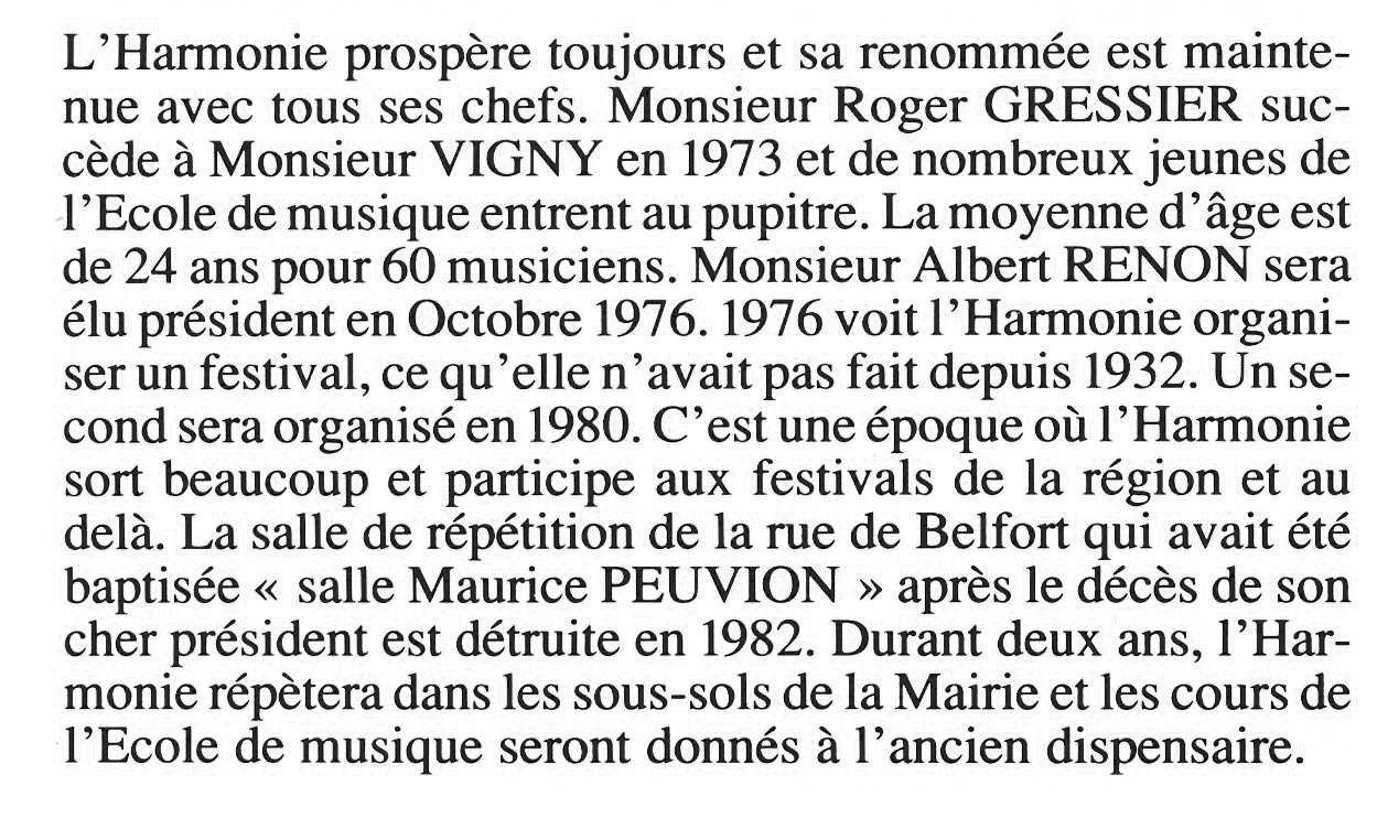 Album - la ville de Noyon (Oise), l'orchestre d'harmonie, sa chronologie, le bureau
