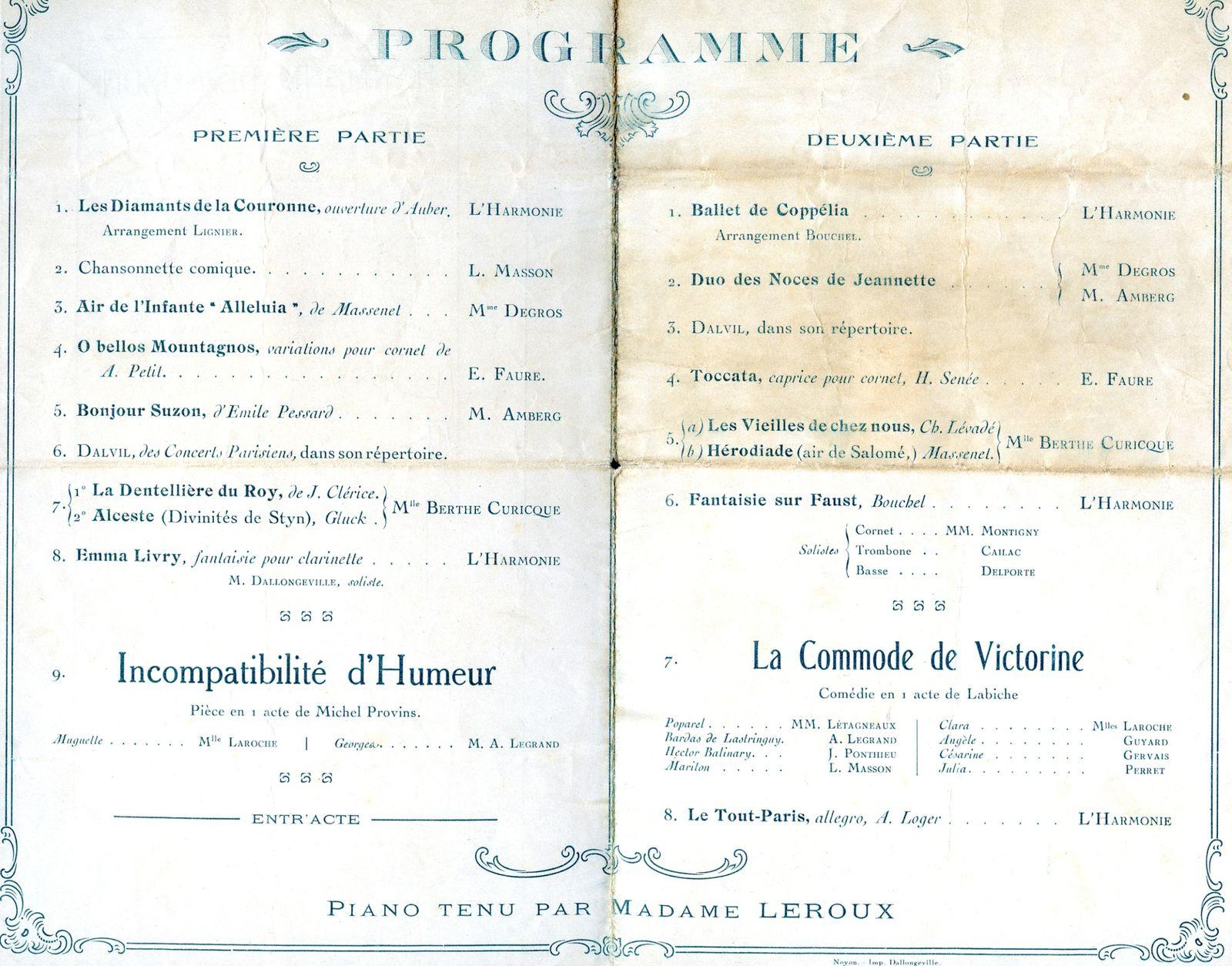 Album - la ville de Noyon (Oise), l'orchestre d'harmonie, ses concerts