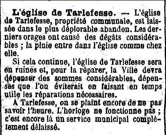 Album - le Hameau de Tarlefesse, son Histoire