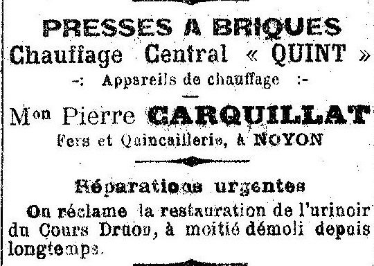 Album - la ville de Noyon (Oise), les commerçants commençant par la lettre C juqu'a F