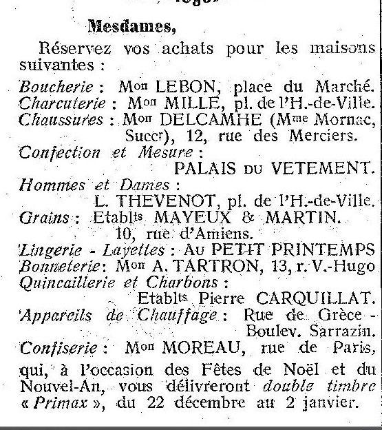 Album - la ville de Noyon (Oise), les commerçants commençant par la lettre I jusqu'a M