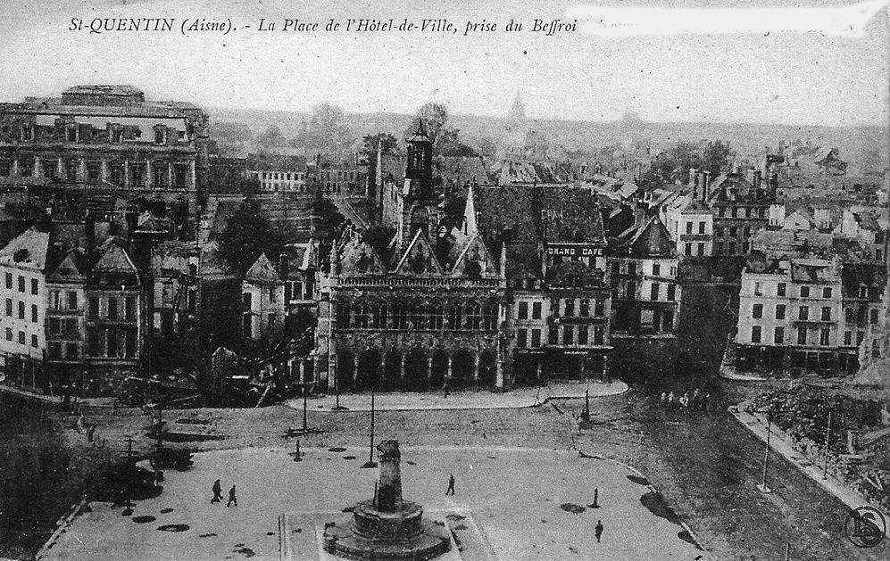 Album - la ville de Saint-Quentin (Aisne), les destructions de la guerre