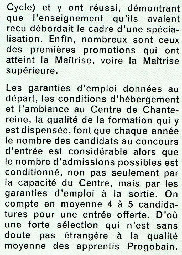 Album - centre Progobain, son Histoire