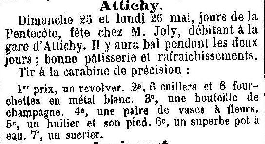 Album - le village d'Attichy (Aisne), au fil des mois au cours des années 1800 et 1900