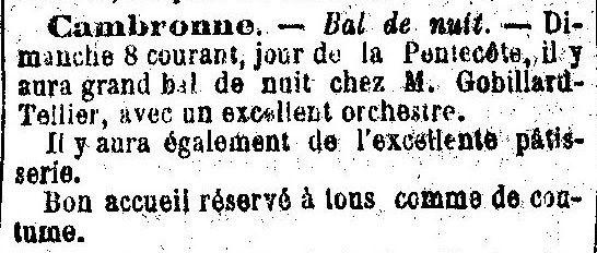 Album - le village de Cambronne les Ribecourt (Oise),au fil des mois au cours des années 1800 et 1900