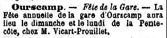 Album - le village de Chiry Ourscamp (Oise), au fil des mois au cours des années 1800 et 1900