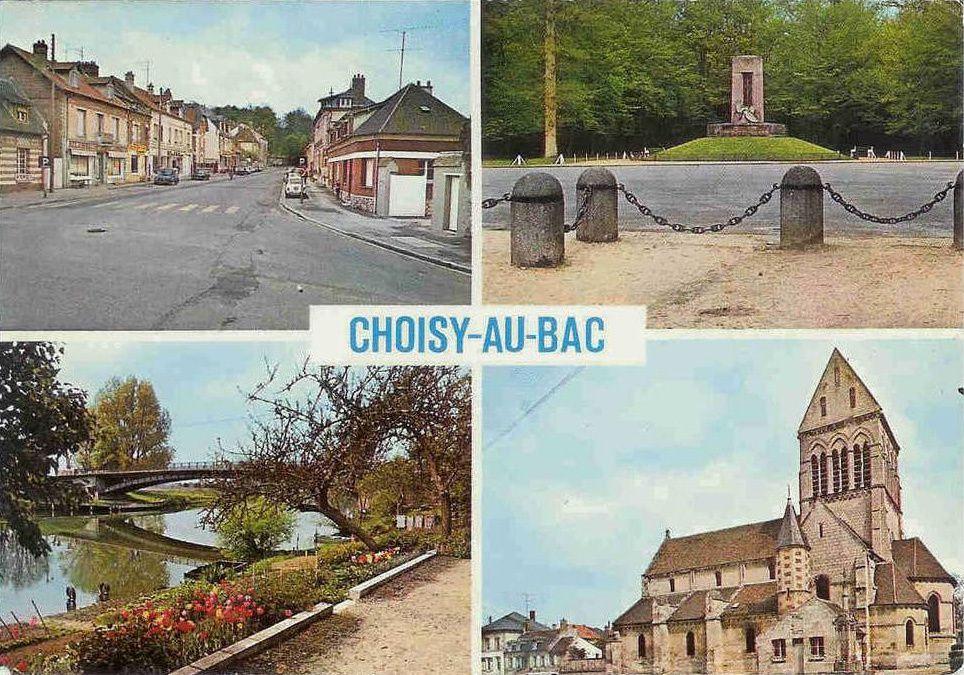 Album - le village de Choisy-au-Bac (Oise), l'école, l'église