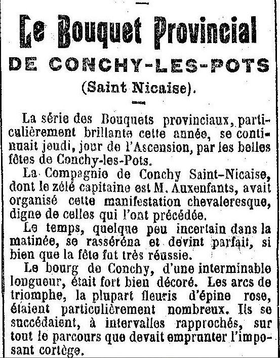 Album - le village de Conchy-les-pots (Oise), au fil des mois au cours des années 1800 et 1900