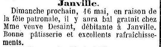 Album - le village de Janville (Oise), au fil des mois au cours des années1800 et 1900