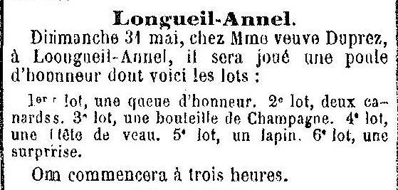 Album - le village de Longueil-Annel (Oise), les fêtes, manifestations au cours des années 1800 et 1900