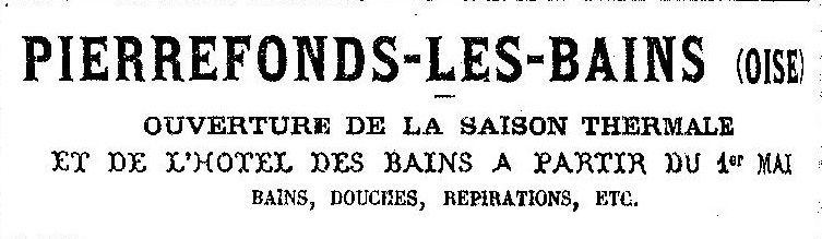 Album - le village de Pierrefonds (Oise), au fil des mois au cours des années 1800 et 1900