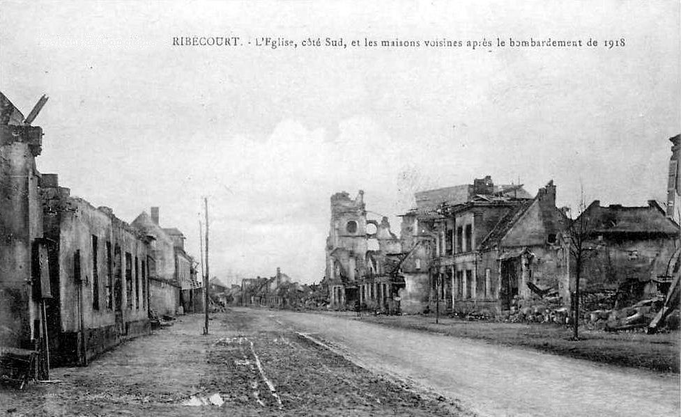 Album - le village de Ribécourt (Oise), les destructions de la guerre