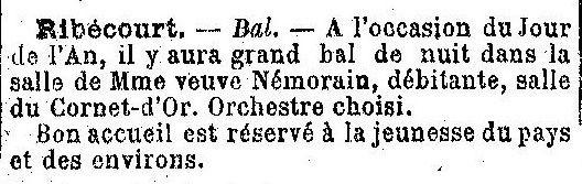 Album - le village de Ribécourt (Oise), au fil des mois au cours des années 1800 et 1900