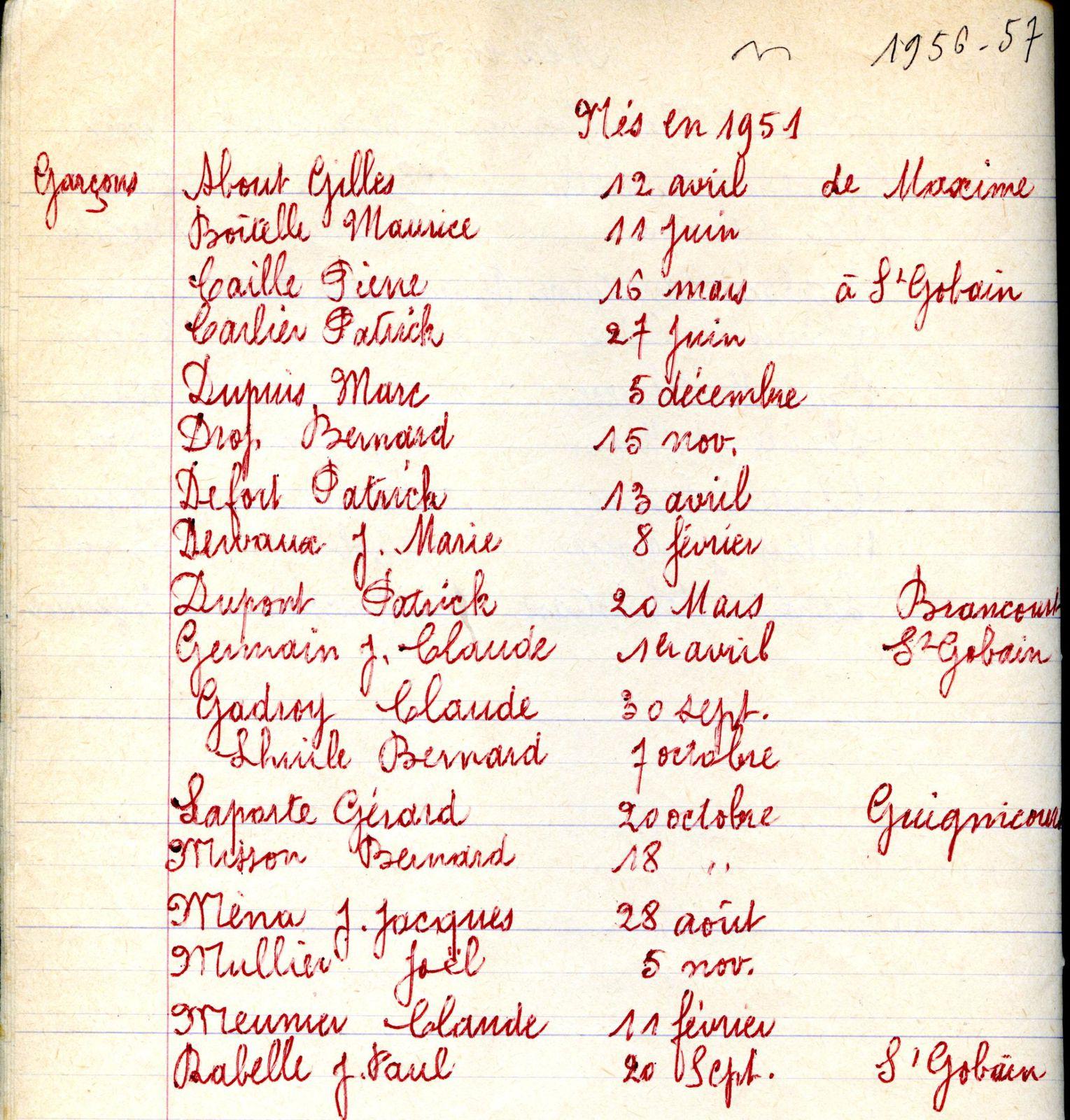 Album - le village de Saint-Gobain ( 02 ), les écoles