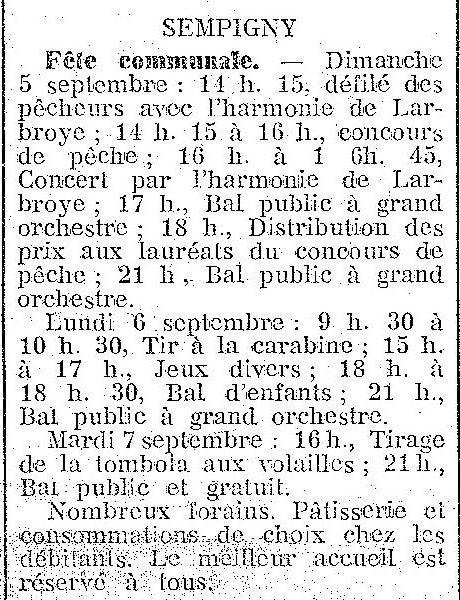 Album - le village de Sempigny (Oise), au fil des mois au cours des années 1800 et 1900