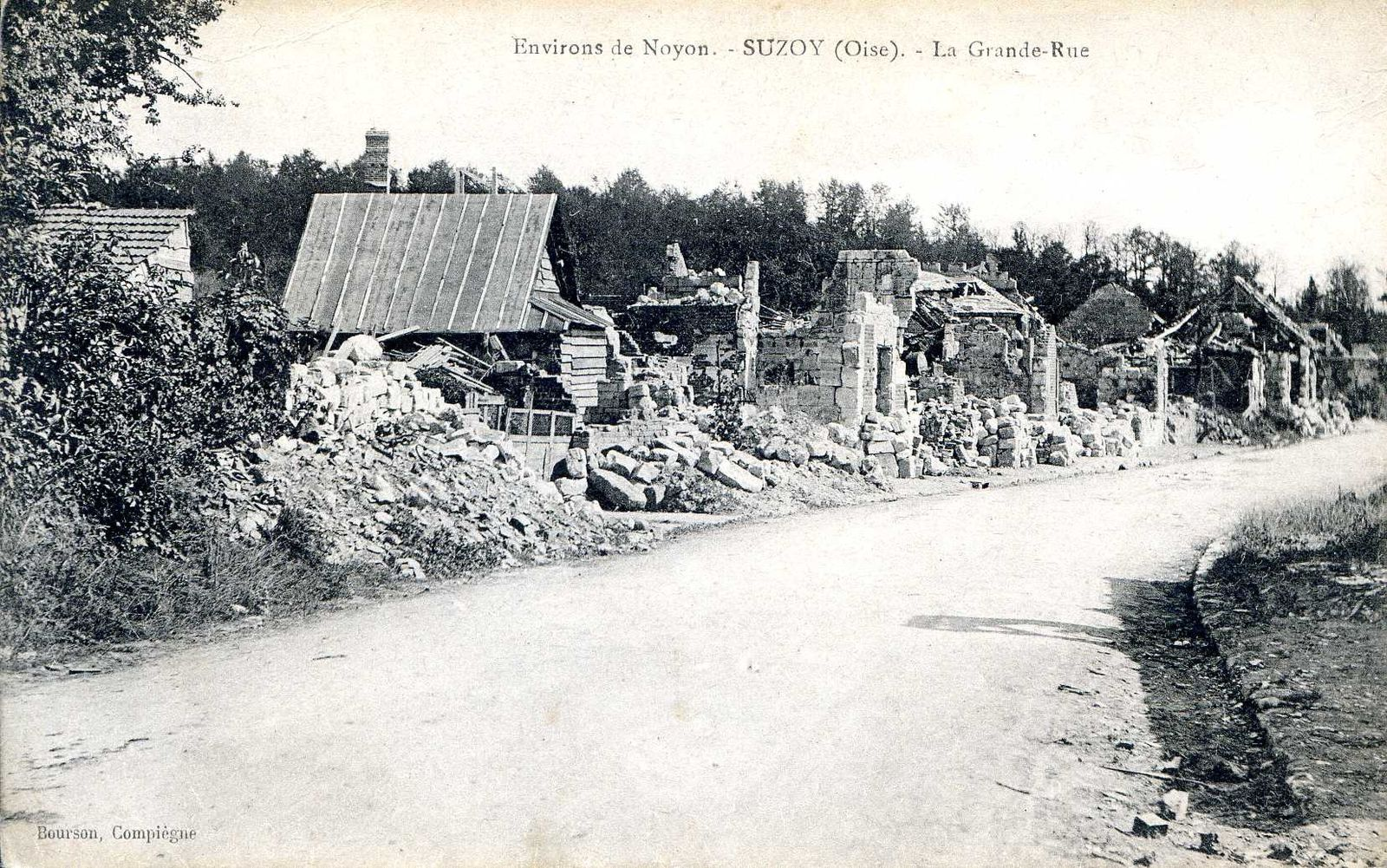 Album - le village de Suzoy (Oise), les destructions de la Guerre
