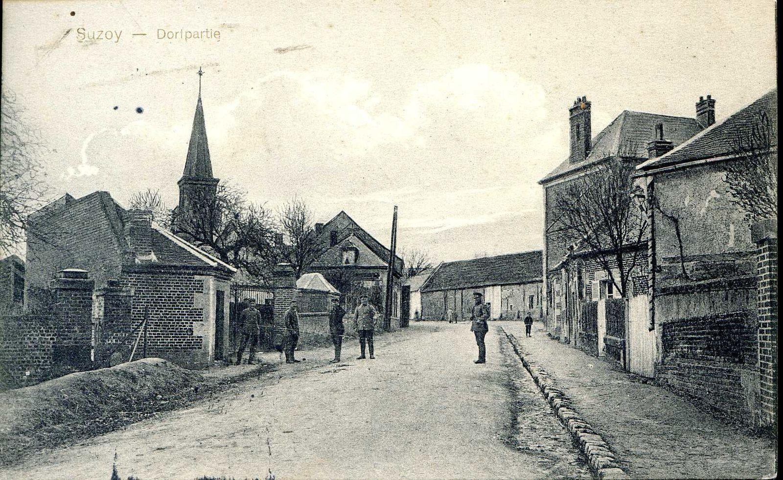 Album - le village de Suzoy (Oise), au cours de la guerre