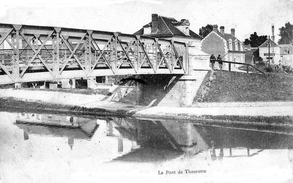 Album - le village de Thourotte, (Oise), le canal, le pont