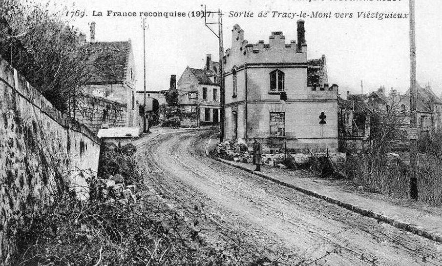 Album - le village de Tracy le Mont (Oise), les destructions de la guerre