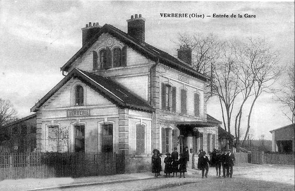 Album - le village de Verberie (Oise), l'église, la gare