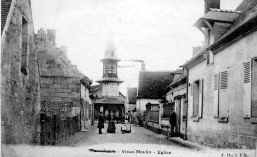 Album - le village de Vieux Moulin (Oise), les écoles, l'église et les commerces