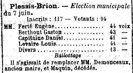 Album - le village le Plessis-Brion (Oise), au fil des mois au cours des années 1800 et 1900