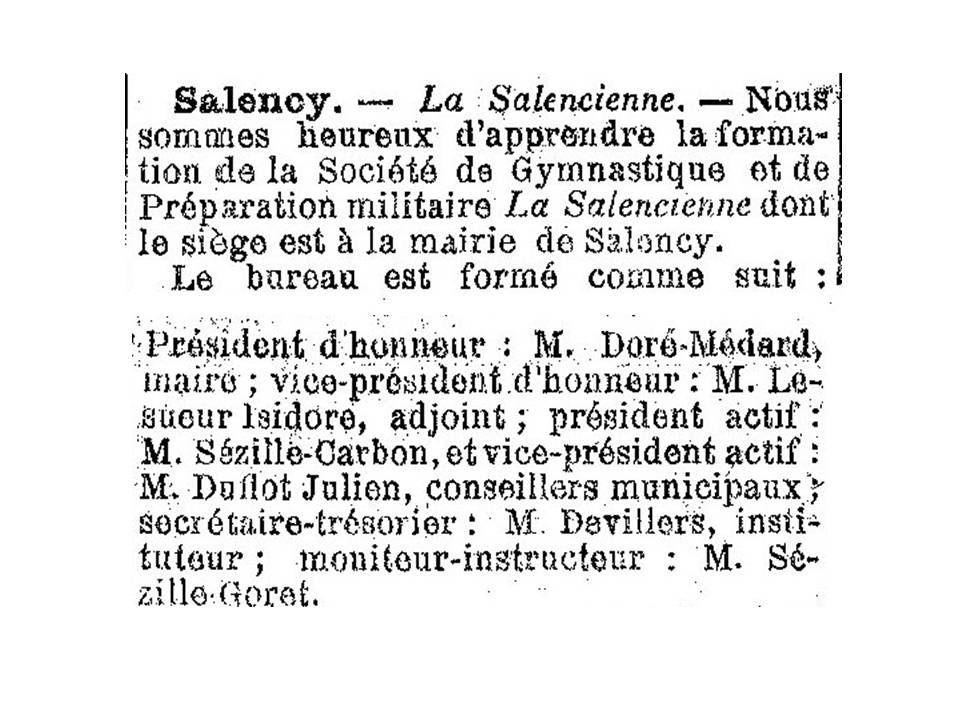 Album - le village de Salency (Oise), au fil des mois au cours des années 1800 et 1900