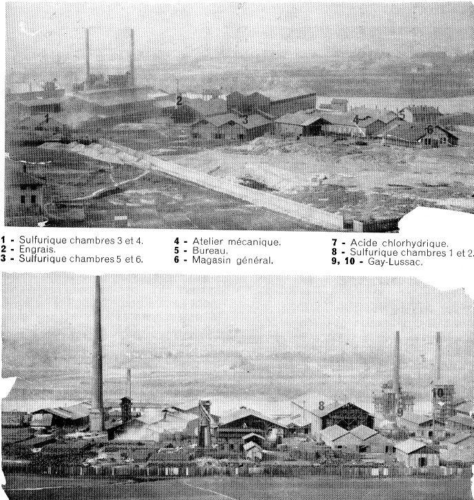 Album - groupe Saint-Gobain, l'usine de Saint-Fons (Rhone)