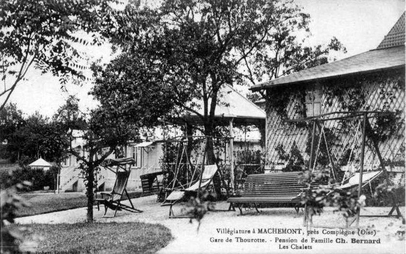Album - le village de Machemont (Oise), le château, le moulin, les villas, la maison Bernard