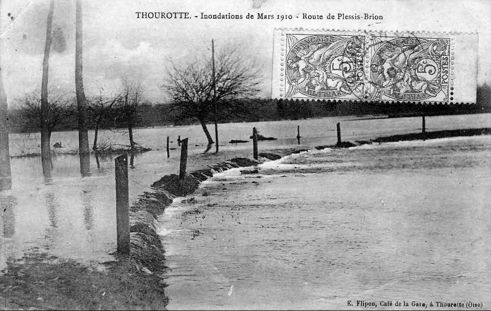 Album - le village de Thourotte (Oise), la poste, la piscine, les inondations, la route nationale