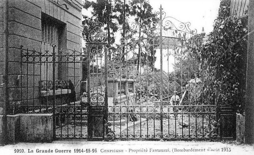 Album - la ville de Compiegne, (Oise), les destructions et diffèrentes photos des guerres
