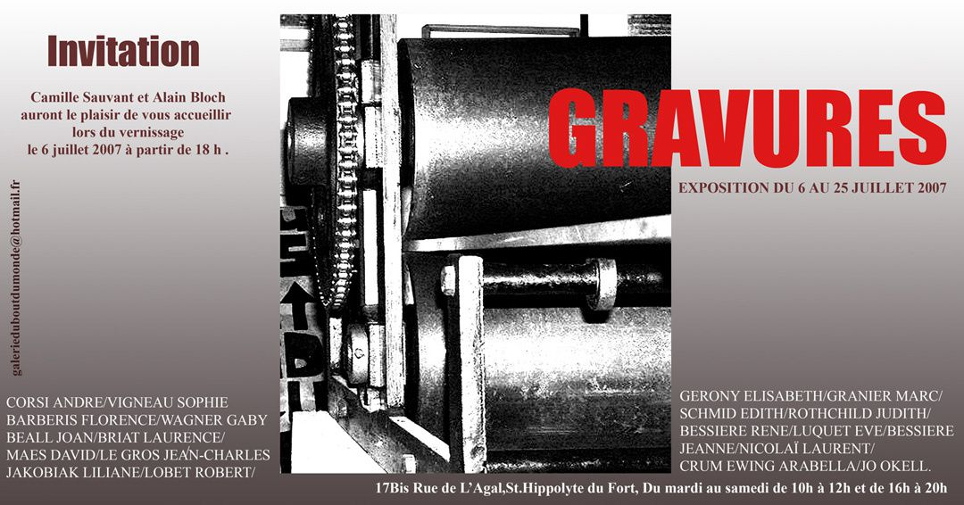 Invitation gravures