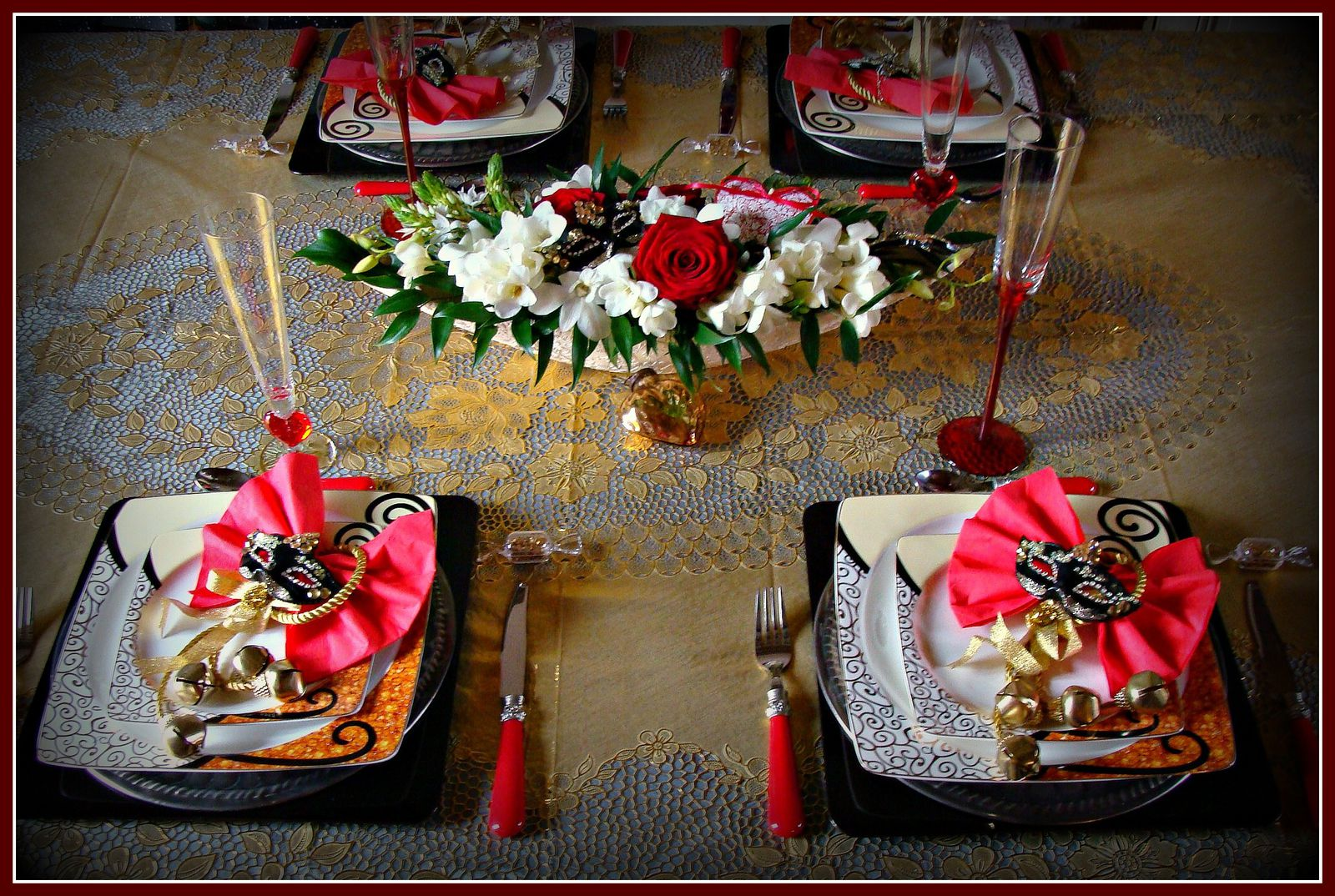 Table saint valentin a venise le blog de escargotine for Article de decoration