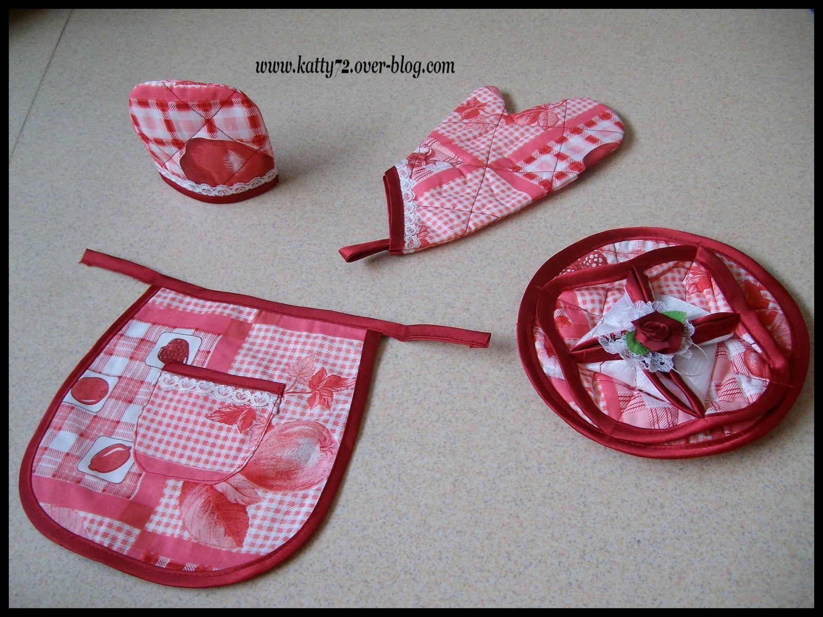 Accessoires cuisine en tissu for Accessoires cuisine