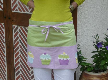 un tablier cupcake en patchwork le de quilt color