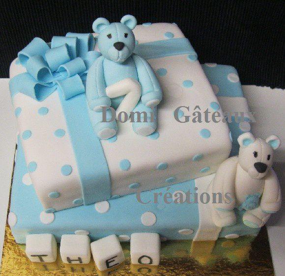gâteau nounours en pâte à sucre domi gâteaux créations