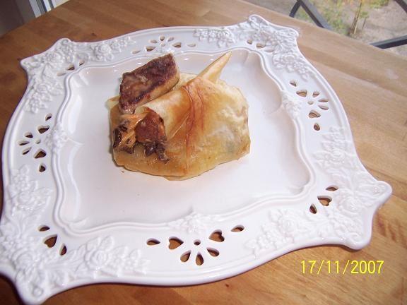 pastilla de foie gras et champignons des bois