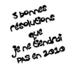 3 bonnes résolutions