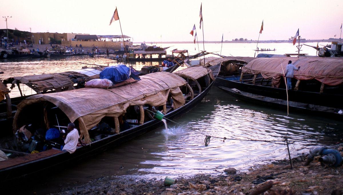 64-Mopti - Mali - Fleuve Niger - Le Port