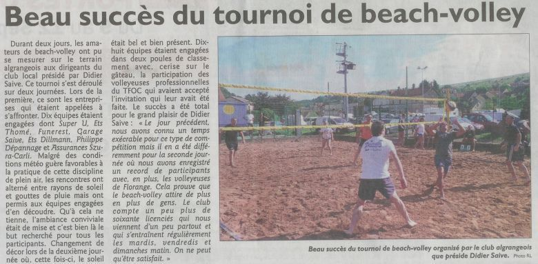 Algrange beach volley aout 2011