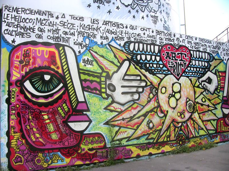 Da Cruz Ourcq Graffitis Paris