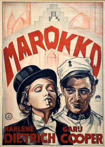 Affiche MAROKKO avec Marlene Dietrich