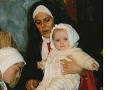 la vierge marie et le divin petit(e)