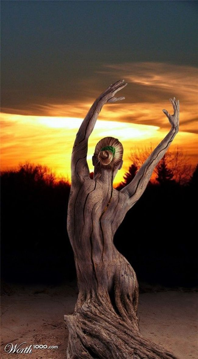 Image: arbre femme (montage Worth 1000) woman tree