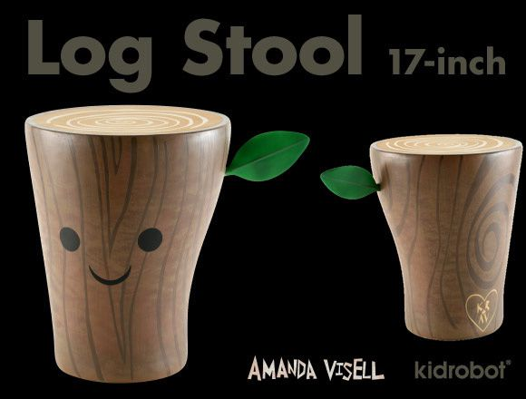 Tabouret artoys Log Stool by Amanda Visell