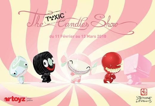 Exposition The Toxic Candies par Stephane Levallois x Artoyz