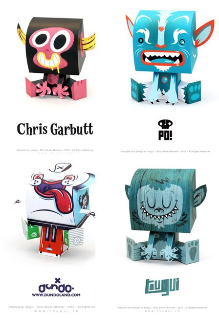 Paper toys Billy Sweet Monster by Tougui